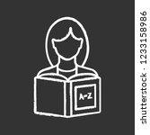 reading chalk icon. basic... | Shutterstock .eps vector #1233158986