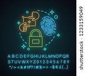 security neon light concept... | Shutterstock .eps vector #1233159049