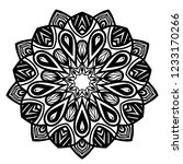 mandala for coloring book.round ... | Shutterstock .eps vector #1233170266