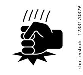 fist on table glyph icon. anger ... | Shutterstock .eps vector #1233170329