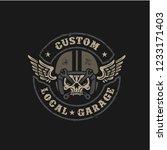 custom local garage motorcycle... | Shutterstock .eps vector #1233171403
