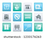 hotel and motel amenity icons... | Shutterstock .eps vector #1233176263