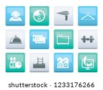 hotel and motel amenity icons ... | Shutterstock .eps vector #1233176266