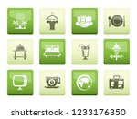 hotel  motel and holidays icons ... | Shutterstock .eps vector #1233176350