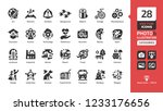 vector category and theme icon... | Shutterstock .eps vector #1233176656