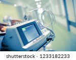 medical monitor with the... | Shutterstock . vector #1233182233