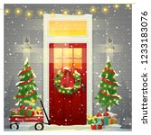 merry christmas and happy new... | Shutterstock .eps vector #1233183076