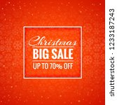 merry christmas card big sale... | Shutterstock .eps vector #1233187243