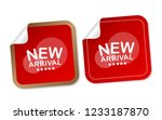 new arrival stickers | Shutterstock .eps vector #1233187870