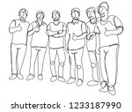 continuous line drawing of a... | Shutterstock .eps vector #1233187990