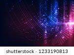 vector digital global... | Shutterstock .eps vector #1233190813