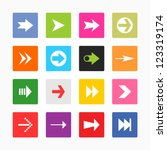 arrow sign icon set. solid...