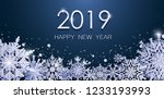 christmas new year 2019 card... | Shutterstock .eps vector #1233193993