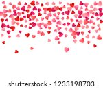 ruby red flying hearts bright... | Shutterstock .eps vector #1233198703