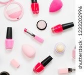 set of beauty accessory and... | Shutterstock . vector #1233202996