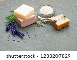 lavender flowers and soap... | Shutterstock . vector #1233207829