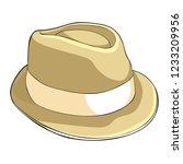 the men is headdress  hat.... | Shutterstock .eps vector #1233209956