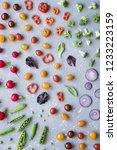 clean eating concept. fresh... | Shutterstock . vector #1233223159