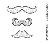 vector collection of hand drawn ... | Shutterstock .eps vector #1233229300