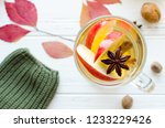 autumn mulled wine or gluhwein... | Shutterstock . vector #1233229426