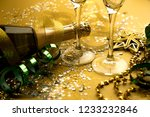 new year closeup golden 2019... | Shutterstock . vector #1233232846