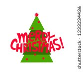 christmas greeting card. merry... | Shutterstock .eps vector #1233234436