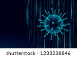 virus soft 3d internet security.... | Shutterstock .eps vector #1233238846