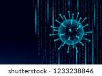 virus soft 3d internet security.... | Shutterstock .eps vector #1233238846