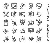 design and drawing icons set.... | Shutterstock .eps vector #1233239179