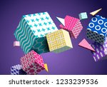 abstract geometric background... | Shutterstock .eps vector #1233239536
