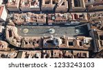 aerial drone view of iconic... | Shutterstock . vector #1233243103