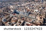 aerial drone view of iconic... | Shutterstock . vector #1233247423