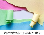 Stock photo ripped paper torn and twisted paper strip with place for text or message sizable and editable 1233252859