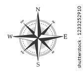 illustration of compass rose... | Shutterstock .eps vector #1233252910