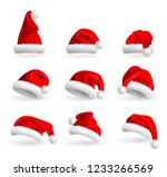 collection of red santa claus... | Shutterstock .eps vector #1233266569