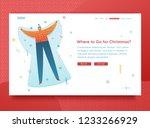 design template website for... | Shutterstock .eps vector #1233266929