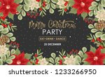 vector christmas party... | Shutterstock .eps vector #1233266950