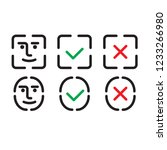 set of face identification... | Shutterstock .eps vector #1233266980