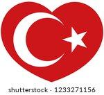 turkey flag in heart vector... | Shutterstock .eps vector #1233271156