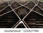 Railway In Fog On Station ...