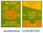 set of halloween concepts....   Shutterstock .eps vector #1233287533