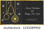 christmas greeting card. vector ... | Shutterstock .eps vector #1233289903