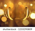 3d golden paint watercolor... | Shutterstock .eps vector #1233290809