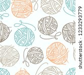 vector seamless pattern with... | Shutterstock .eps vector #1233293779