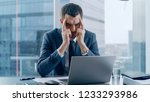 stressed out businessman... | Shutterstock . vector #1233293986
