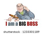 boss character  chief  boss... | Shutterstock .eps vector #1233301189