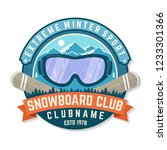 snowboard club patch. vector... | Shutterstock .eps vector #1233301366
