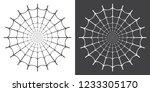 vector illustration of spider... | Shutterstock .eps vector #1233305170
