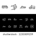 cargo icon set and campervan...