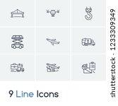 delivery icon set and scissor...